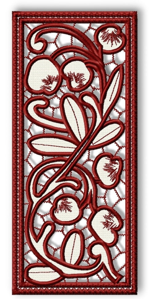 Cutwork Lace Cherry Panel