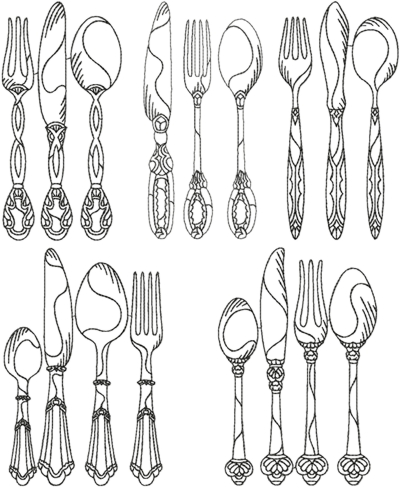 One-Color Vintage Cutlery Set
