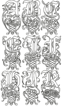 Illuminated Manuscript Monogram Alphabet