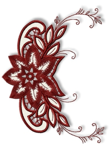 Poinsettia Cutwork Lace