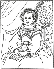 Portrait of Mademoiselle Romaine Lacaux by Renoir Machine Embroidery Designs