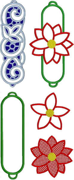 Advanced embroidery designs christmas napkin rings