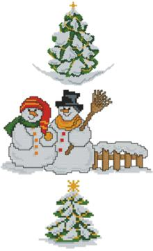 Snowmen and Fir Tree Set