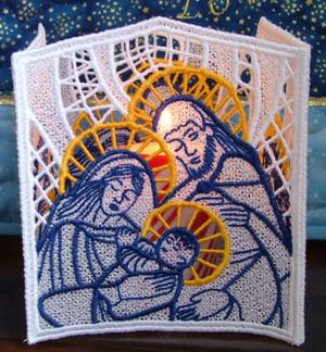 Holy Family FSL Candle Shade