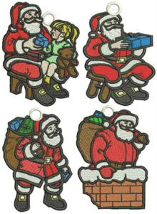FSL Santa Ornament Set
