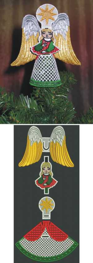 3D Angel Tree Topper