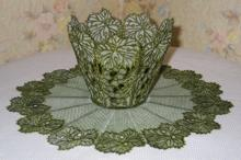 Grape and Vine Bowl and Doily Set