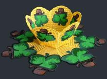 Shamrock Bowl and Doily Set