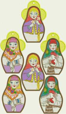 Russian Doll Ornaments