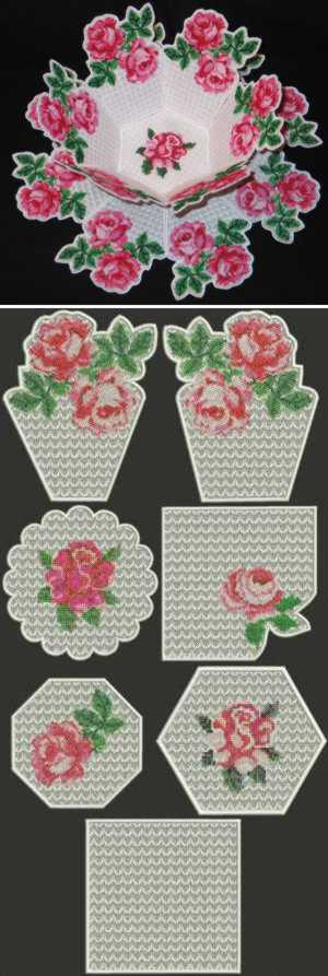 Rose Tapestry Bowl and Doily Set