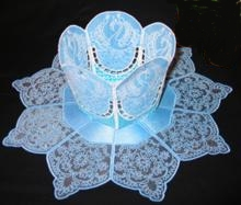 Swan Bowl with Organza Doily