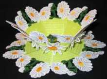 3D Daisy Bowl and Doily Set