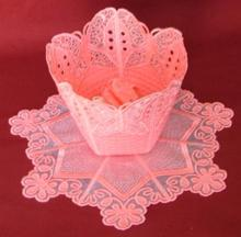 Butterfly Organza Bowl and Doily Set