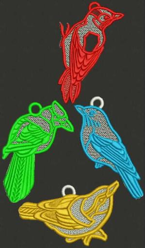 Bird Ornament Set I