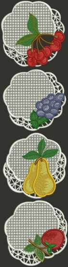Fruit Doily Set