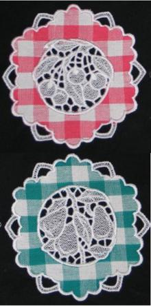 Applique Fruit Doily Set