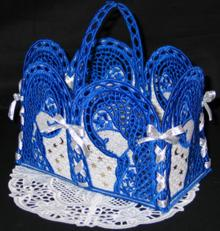 Our Lady Basket and Doily Set