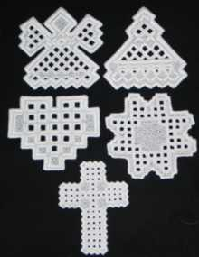 FSL Hardanger Ornament Set