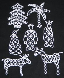 Tatting Ornament Set