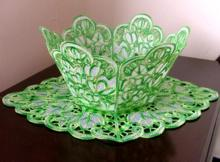 Snowdrop Bowl and Doily Set
