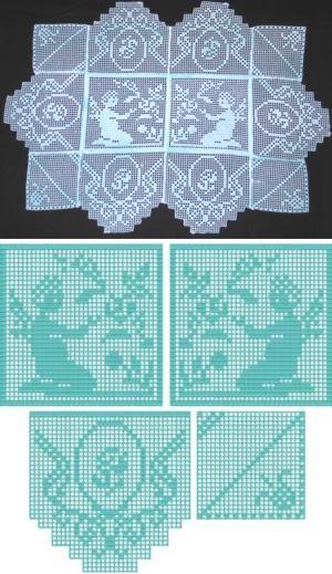 Advanced embroidery designs victorian angel crochet - Set de table crochet ...