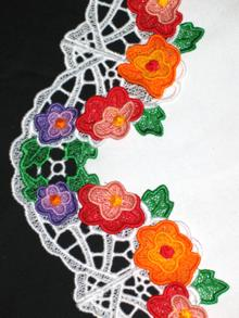 3D Spring Flower Wreath Doily