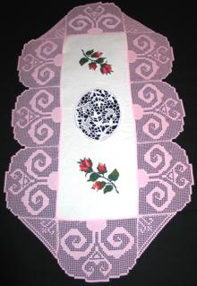 FSL Crochet Flower Scroll Border Set