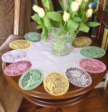 Advanced Embroidery Designs - Easter Egg FSL Table Runner