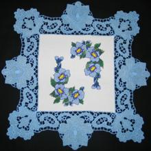 FSL Crocus Square Doily Set
