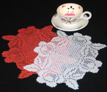 FSL Crochet Rose Doily