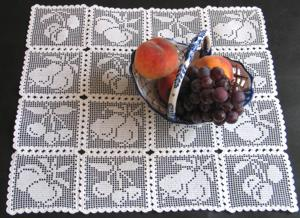 FSL Crochet Fruit Squares Set