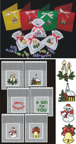 FSL Crochet Christmas Gift Bag Set