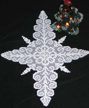 FSL Crochet Star of Bethlehem Doily Set