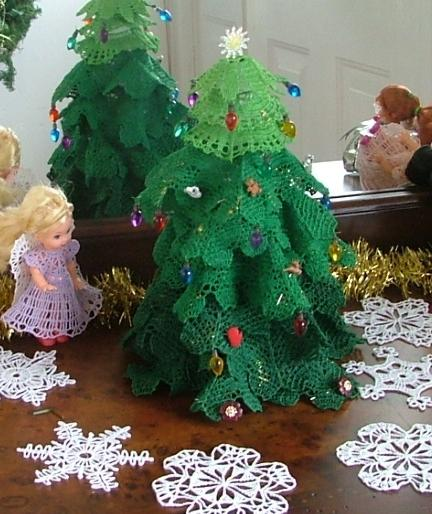 Crochet Angel Baptism Gift Christmas Lace Angel Ornament Tree: FSL Crochet 3D Christmas Tree