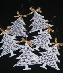 FSL Crochet Christmas Tree Ornament Set