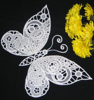 Advanced Embroidery Designs 3d Fsl Butterfly