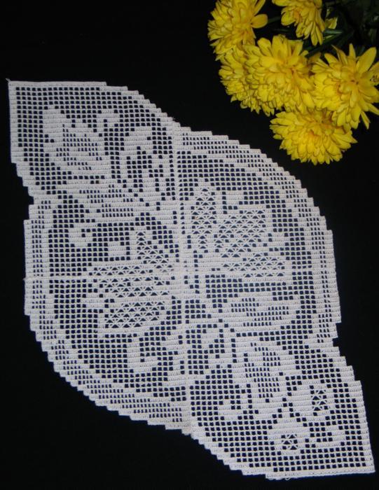Advanced Embroidery Designs Fsl Crochet Magnolia Doily Set