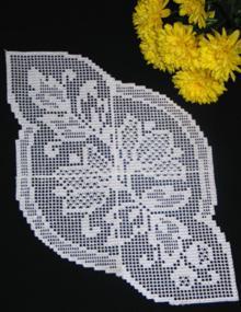 FSL Crochet Magnolia Doily Set