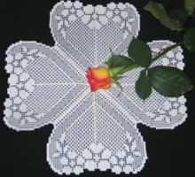 FSL Crochet Flower Heart Set