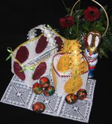 FSL Crochet Easter Basket Set