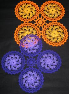 FSL Crochet Windmill Doily Set