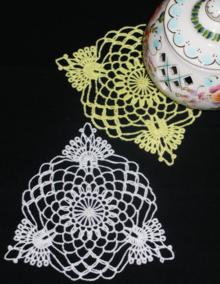 FSL Crochet Crown Doily