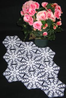 FSL Crochet Star Flower Doily