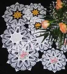 FSL Crochet Star of Venice Doily Set