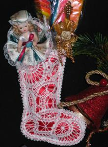 FSL Battenberg Christmas Stocking Lace