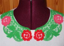 FSL Battenberg Rose Lace Collar