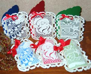 FSL Battenberg Christmas Lace Panels for Gift Bags and Cards