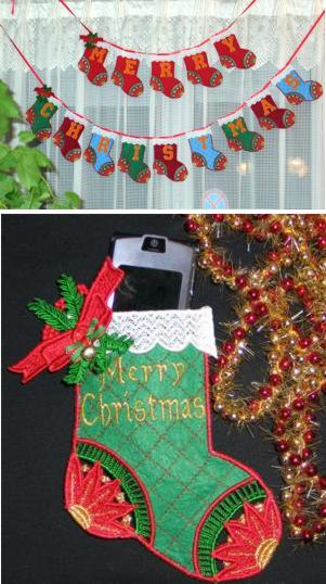 Christmas Stocking Garland Set