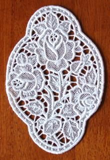 FSL Three Roses Medallion Lace