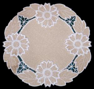 Cutwork Lace Flower Doily